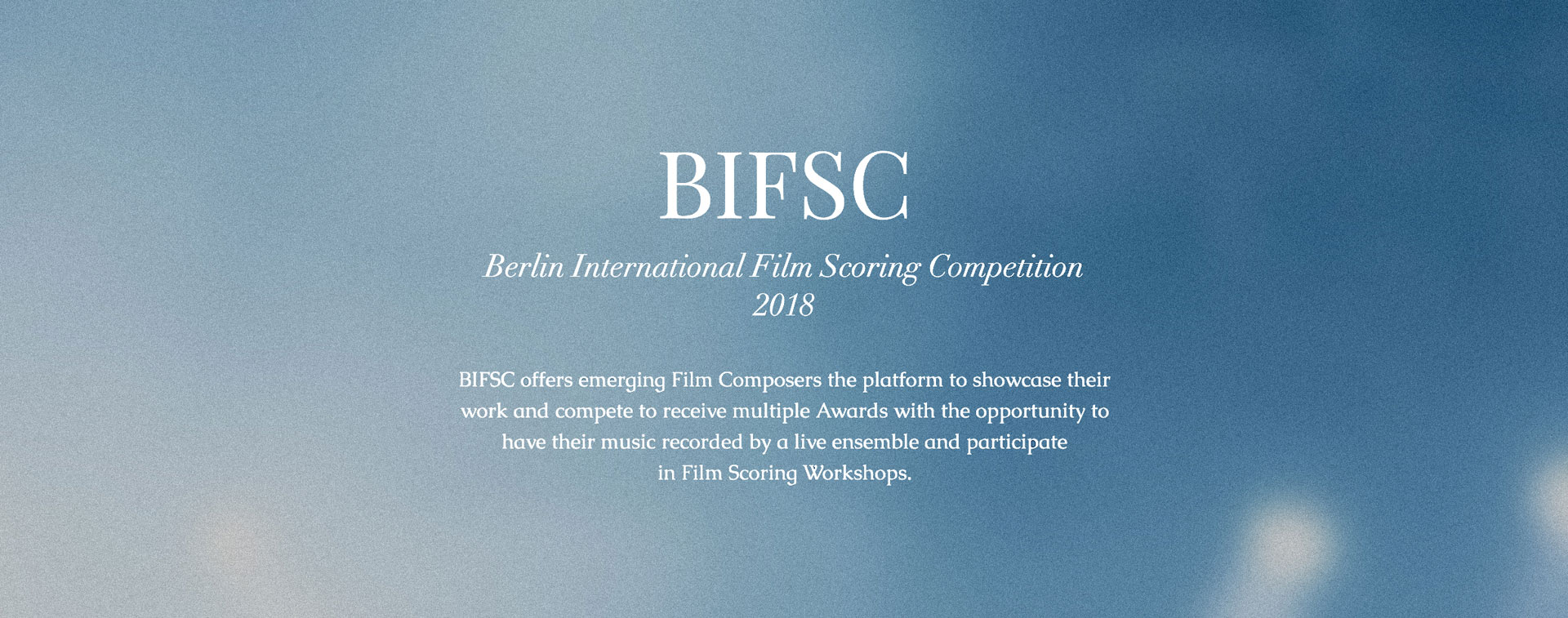 Berlin International Film Scoring Competition