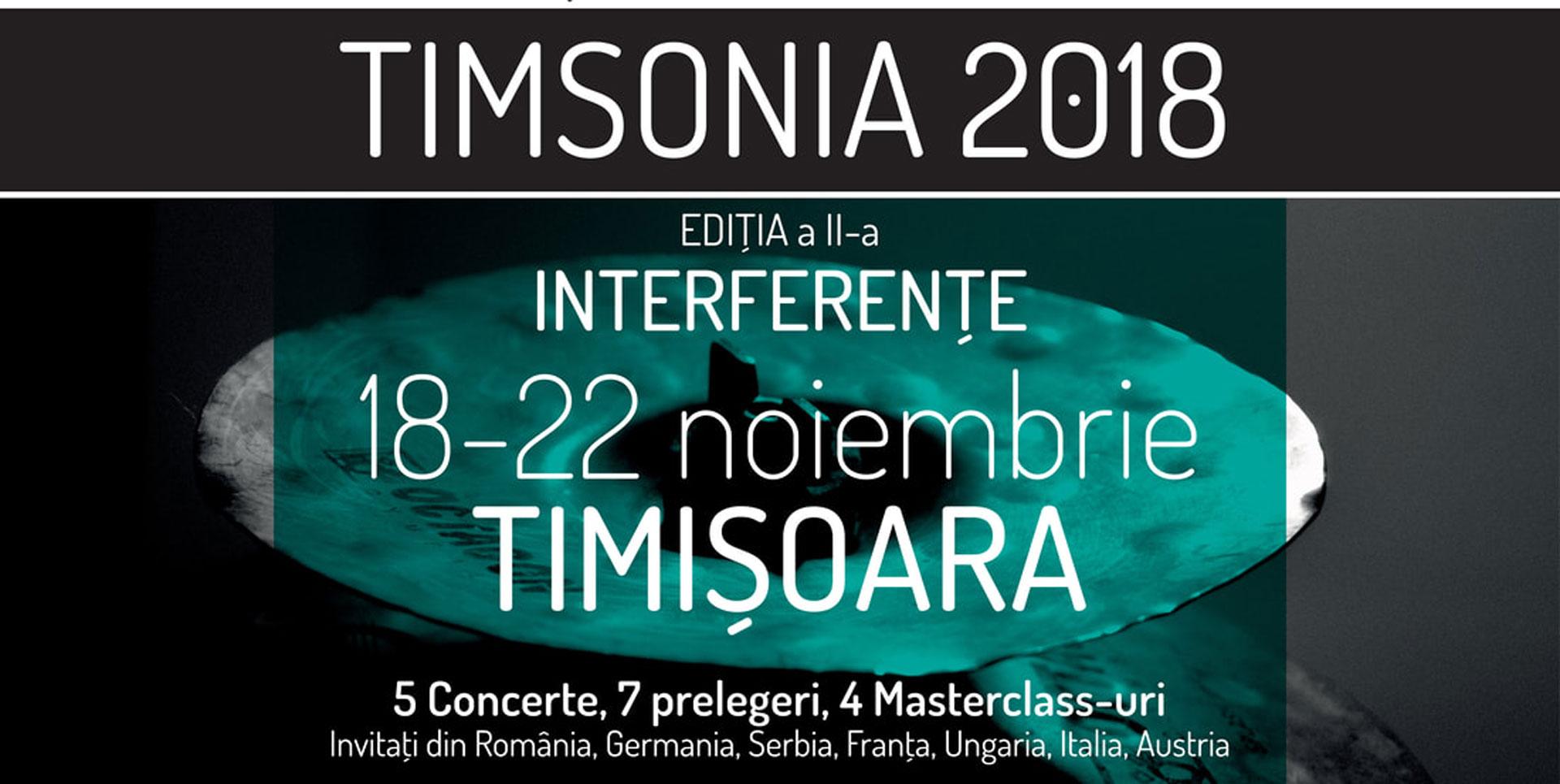 Festivalul internațional de muzică nouă TIMSONIA 2018